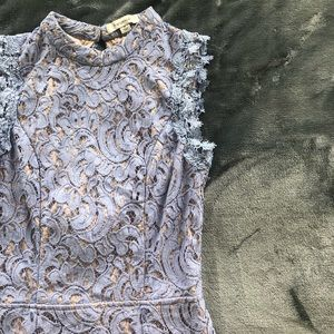 Francesca's periwinkle lace dress